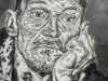 """""""Another porträt of a homeless man"""", Öl auf Leinwand, 120x90cm, 2020"""