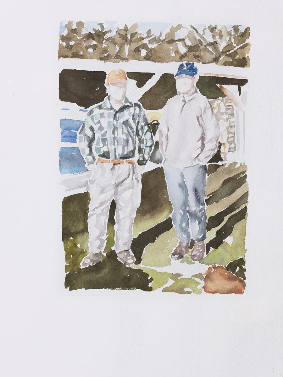 Jäger im Hunsrück, Aquarell, 48x36, 2012