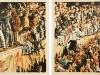 """9. November 1989"", 2x 110 x 85 cm, Öl auf Leinwand, Diptychon, 2014 / 2015"