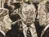 """Sozialliberale Koalition"", Öl auf Leinwand, 60x120 cm, 2014"