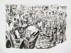 """Eskalation in Berlin, 1967"", Aquarell, 60x80 cm, 2010"