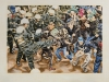 """Eskalation I, Rostock 2007"", Öl auf Leinwand, 100 x 130 cm, 2015"