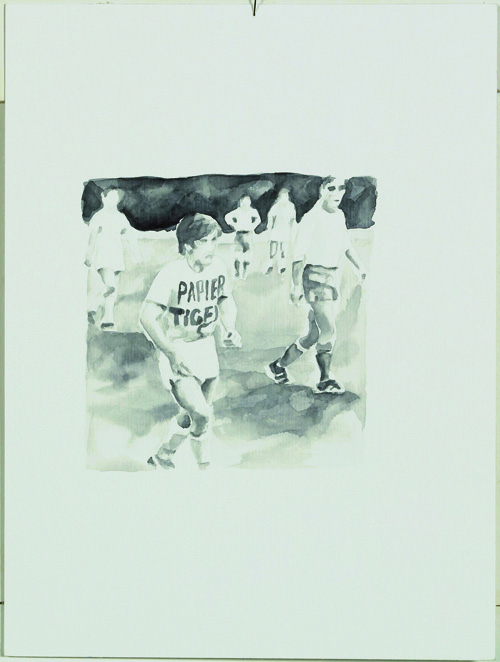 """Freizeit"", Aquarell, 20 x 30 cm, 2007"