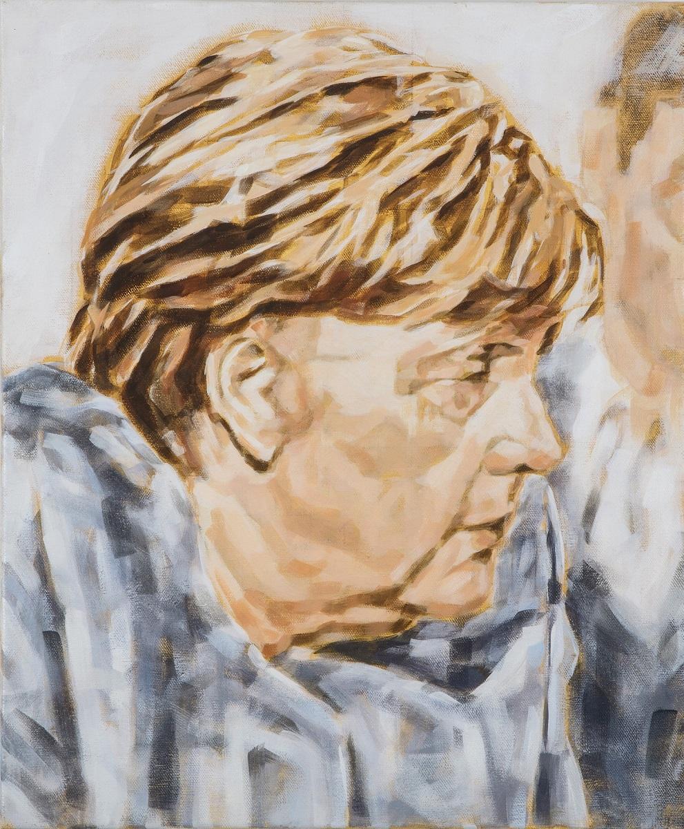 """""""Angela Merkel"""", Öl auf Leinwand, 50x60 cm, 2019"""