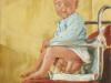 """""""Morgentoilette"""", Öl auf Nessel, 30x30cm, 2002"""