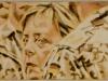 """""""Angela Merkel in Mazar-I-Sharif"""", Öl auf Leinwand, 20x100cm, 2016"""
