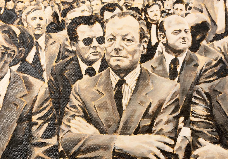 """""""Wahlkampf"""", aus der Serie """"Falscher Freund"""", Öl auf Leinwand, 80 x 110 cm, 2014"""