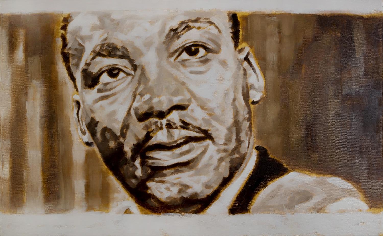 """Martin Luther King"", Öl auf Leinwand, 90x130 cm, 2017"