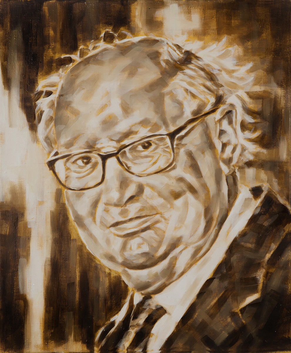 Serge Klarsfeld, 60x50 cm, Öl auf Leinwand, 2017