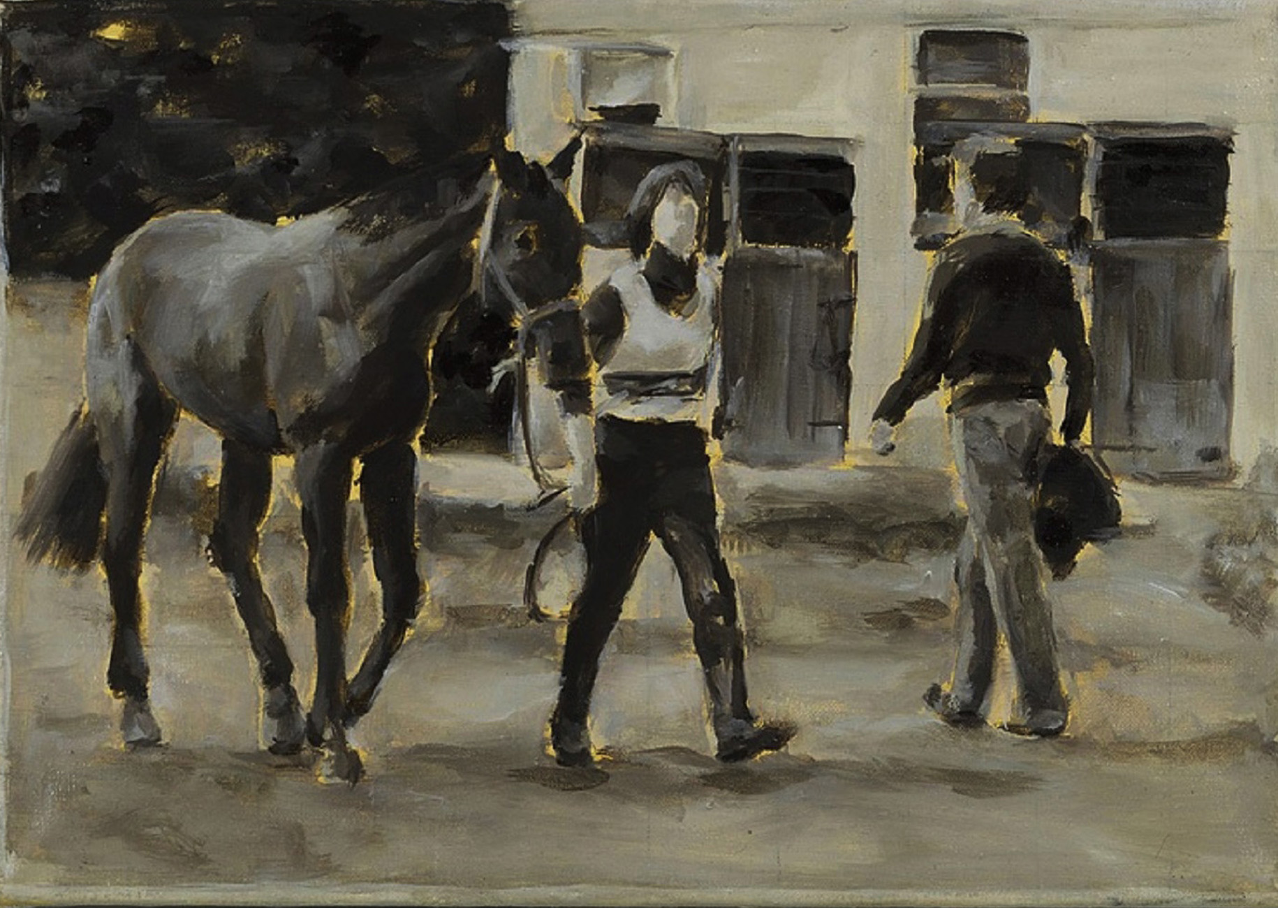 """""""Weidenpesch, 1980"""", Öl auf Leinwand, 30 x 42 cm, 2006"""