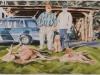 """""""Jäger im Hunsrück, 2006"""", Öl auf Leinwand, 45 x 65 cm, 2013"""