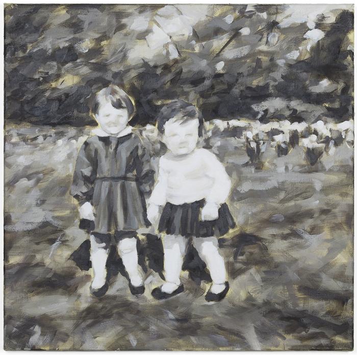 """""""Knechtsteden III, 1964"""", Öl auf Leinwand, 55 x 55 cm, 2011"""
