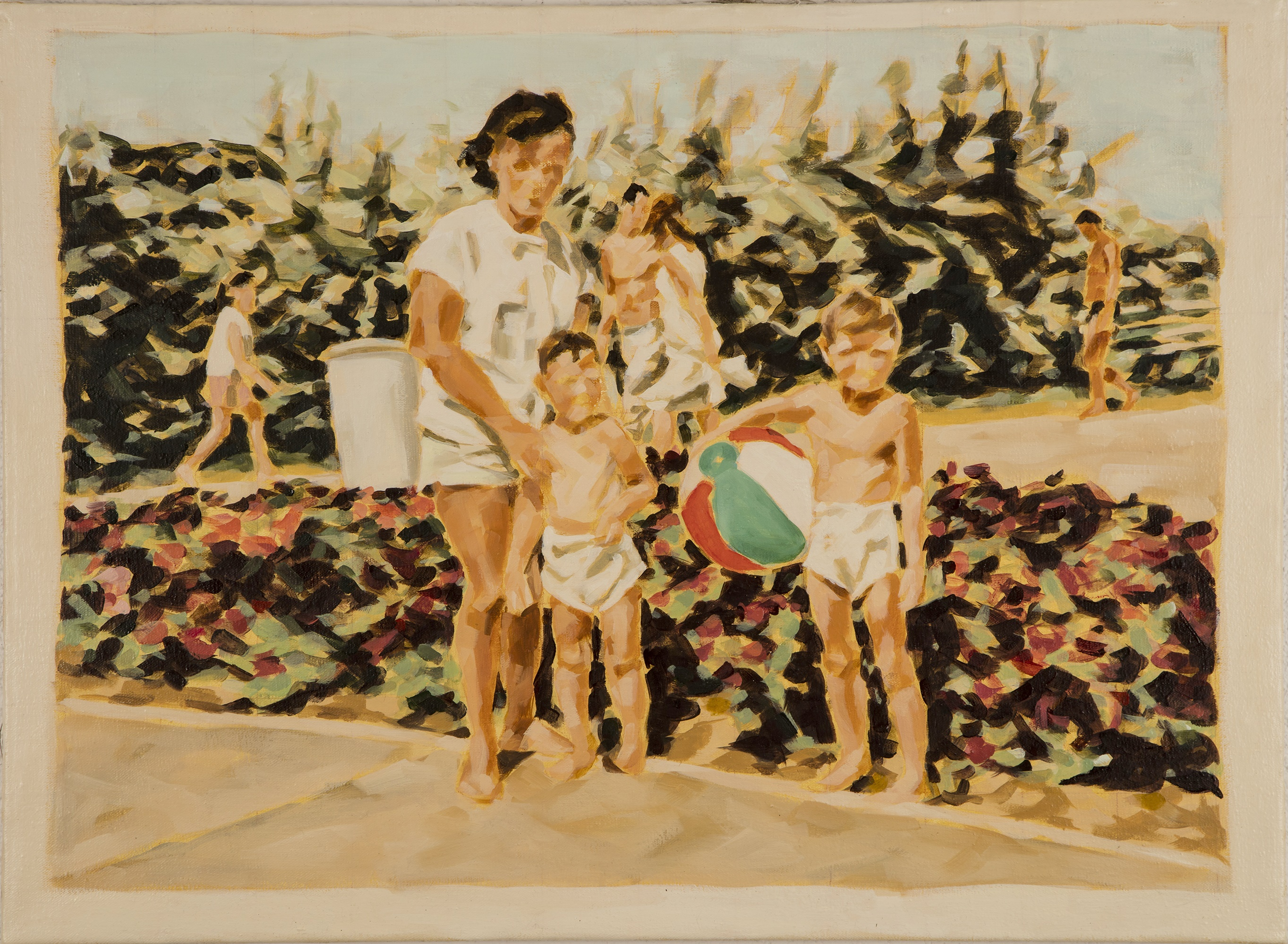 """Mamaia II, 1966"", Öl auf Leinwand, 60x40 cm, 2015"