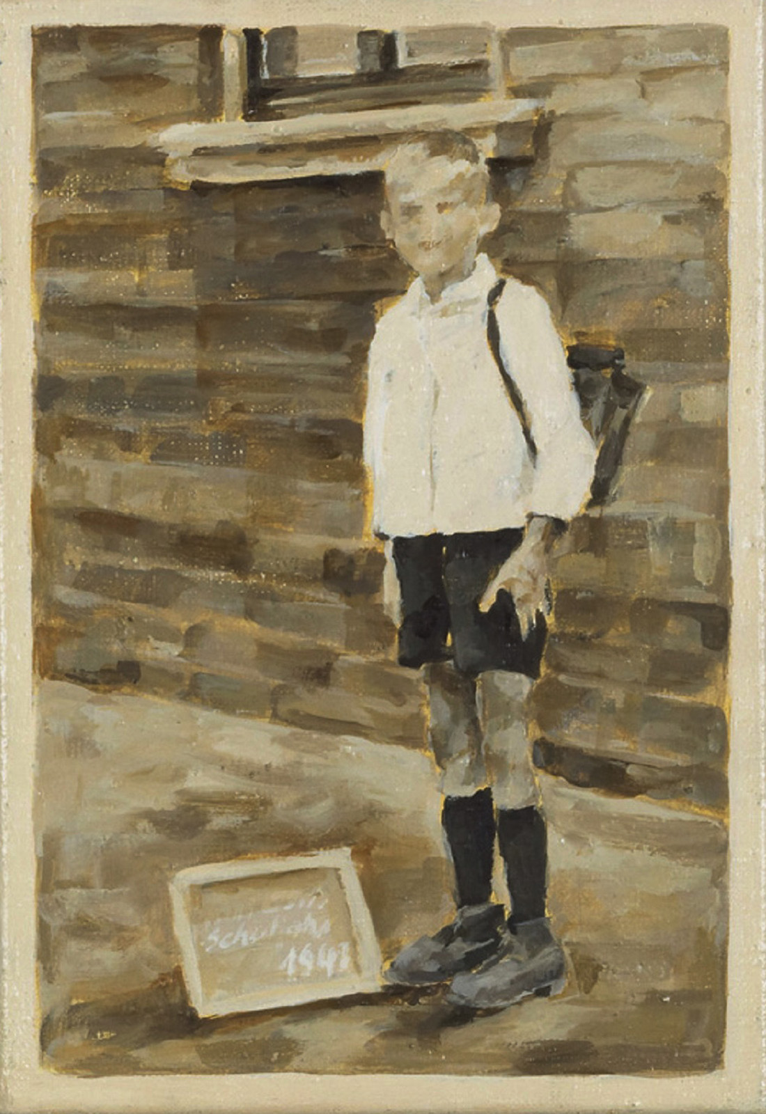 """""""1. Schultag, 1947"""", Öl auf Leinwand, 32 x 22 cm, 2006"""