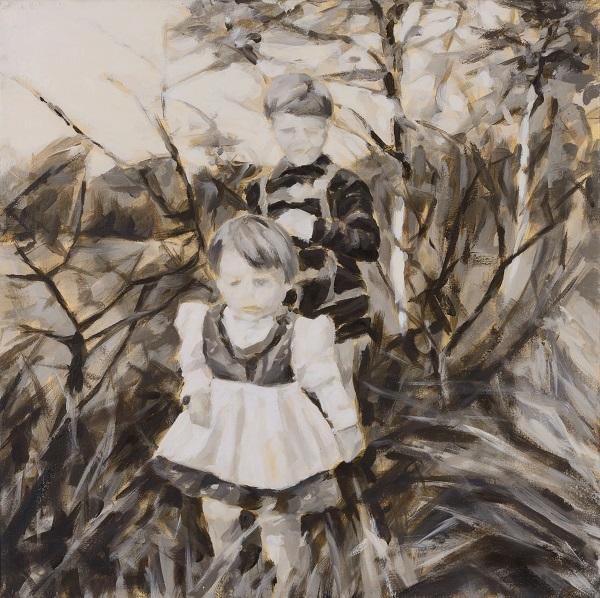 """""""Ausflug, 1965"""", Öl auf Leinwand, 55 x 55 cm, 2012"""