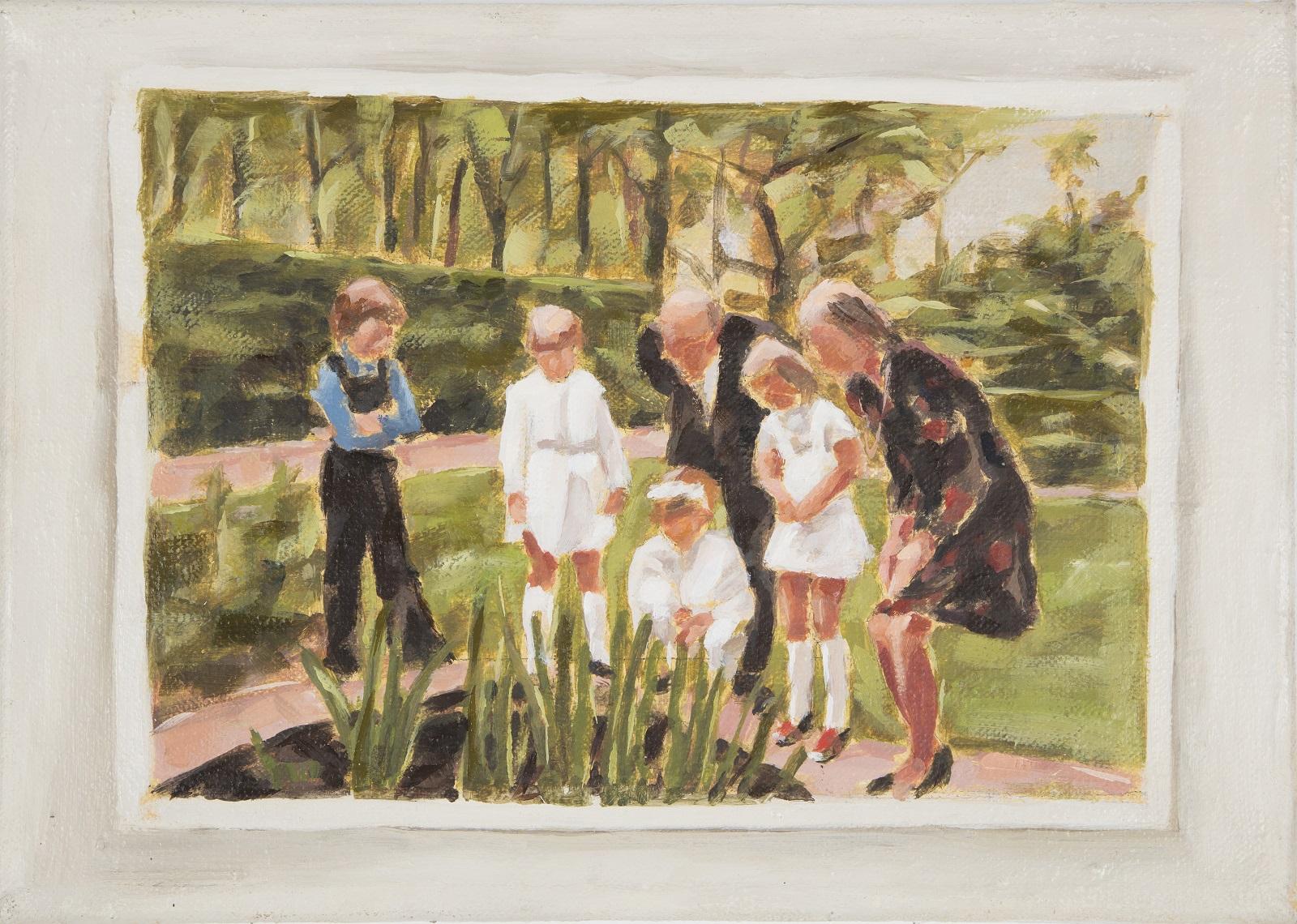 """Ostern, 1973"", Öl auf Leinwand, 22x34cm, 2009"