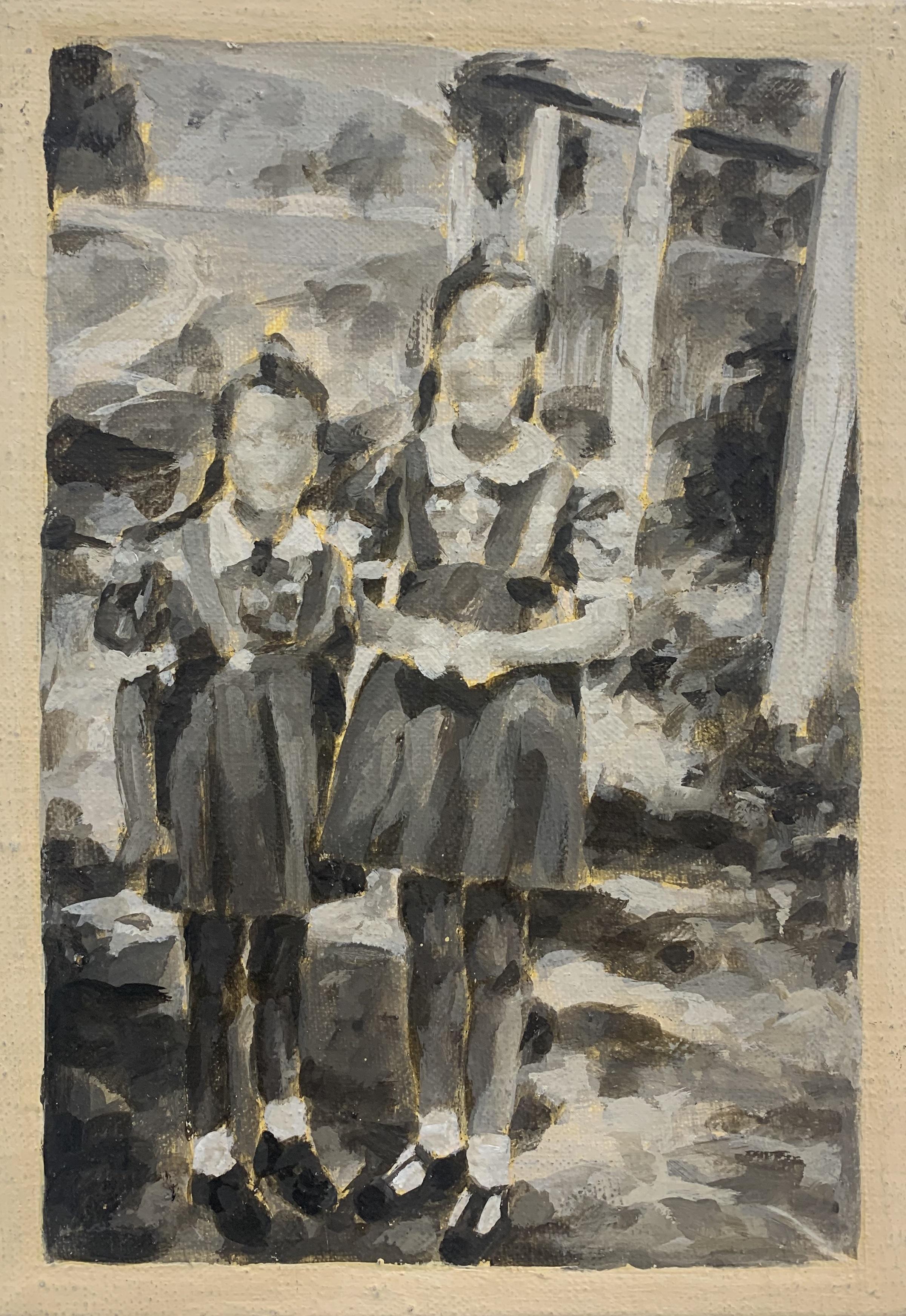 """""""Schwestern in Trier, 1950"""", Öl auf Leinwand, 30x20 cm, 2006"""