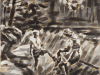"""Geschwister im Wald"", Öl auf Leinwand, 60x40 cm, 2015"