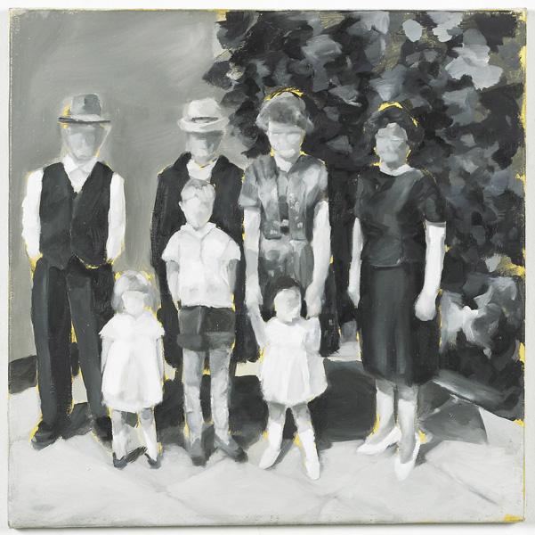 """""""Gill, 1963"""", Öl auf Nessel, 40 x40 cm, 2000"""