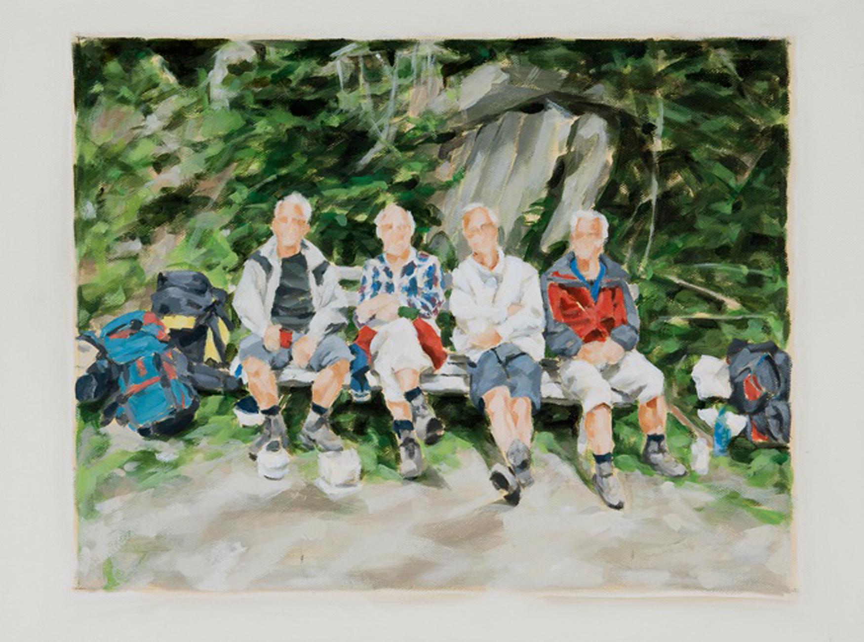 """""""Bergwanderer in den Hohen Tauern, 2010"""", Öl auf Leinwand, 45 x 60 cm, 2011"""