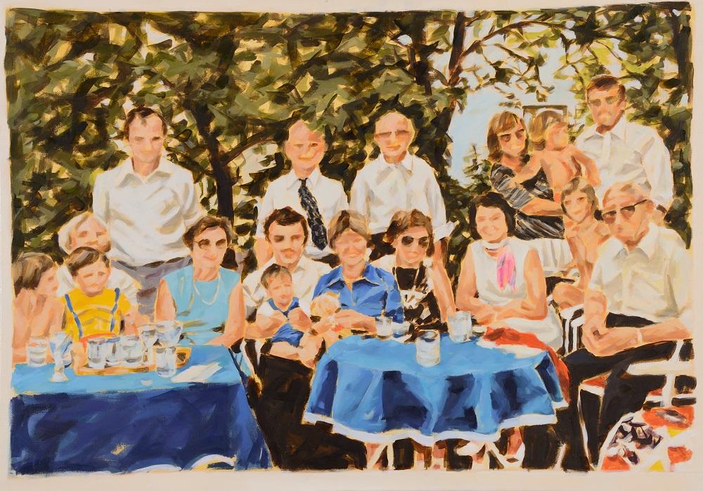 """""""Philipps Taufe"""",  Öl auf Leinwand, 85 x115 cm, 2015"""