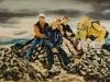"""""""Bergsteigergruppe af dem Gipfel des Pasachoa, 2011"""", Öl auf Leinwand, 60 x 90 cm, 2014"""