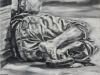 """Sleeping man"", Öl auf Leinwand, 50x60cm, 2020"