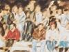 """9. November 1989"", 25 x 160  cm, Öl auf Leinwand, Fries, 2018"