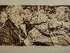 """""""Der Eierwurf von Halle, I"""", Öl auf Leinwand, 110x145, 2016"""
