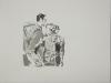 """""""Weg zum Prozess II"""", Aquarell, 38x52, 2013"""