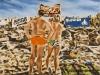 """""""Am Strand von Heiligendamm, Zuschauer"""", Öl auf Leinwand, 45 x 65, 2015"""