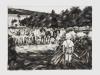 """""""Ländliche Idylle I, 1936"""" aus der Serie """"Klaus"""", Öl auf Leinwand, 30 x 40 cm, 2011"""