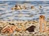"""Urlaub in Kos"", Öl auf Leinwand, 30x130, 2017"